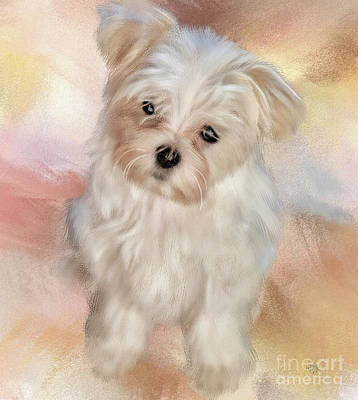 Digital Art - Puppy Dog Eyes by Lois Bryan