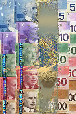 Digital Art - Pure Gold - Selection Of Canadian Paper Currency by Serge Averbukh