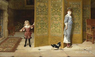 Painting - Puritan And Cavalier, 1886  by Frederick Goodhall