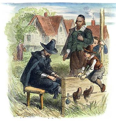 Photograph - Puritan Stocks by Felix Darley