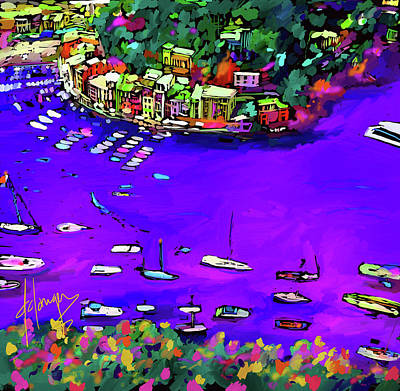 Painting - Purple Cove by DC Langer