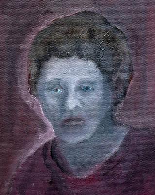 Painting - Purple Female Portrait by Artist Dot