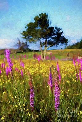 Painting - Purple Giants Ap by Dan Carmichael