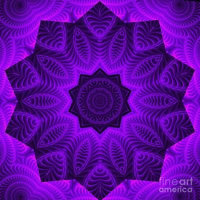 Digital Art - Purple Harmony K10-7 Tile by Doug Morgan