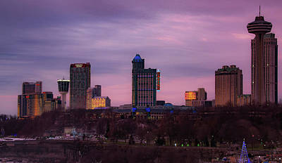 Photograph - Purple Haze Skyline by Lora J Wilson