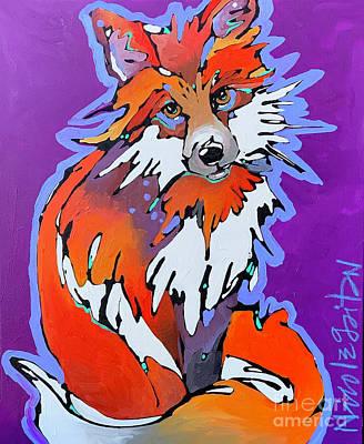 Painting - Purple Heart by Nicole Gaitan