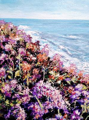 Painting - Purple Landscape by Ray Khalife