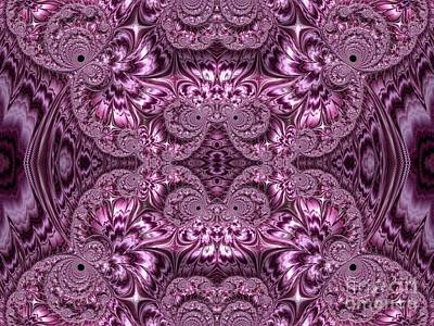 Digital Art - Purple Lilac Gardens And Reflecting Pools Fractal Abstract by Rose Santuci-Sofranko