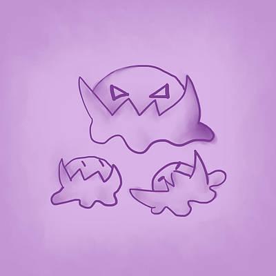 Aloha For Days - Purple Monsters by Jaime Enriquez