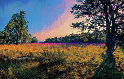 Painting - Purple Morning Ap by Dan Carmichael