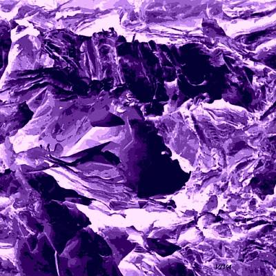 Digital Art - Purple Mountain Majesty Abstract by VIVA Anderson