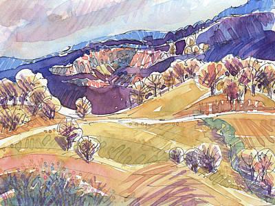 Painting - Purple Mountains, California by Judith Kunzle