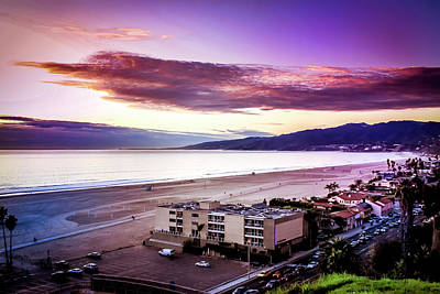 Point Dume Wall Art - Photograph - Purple Mountains by Gene Parks