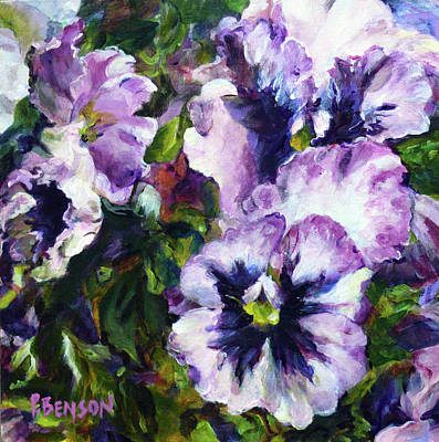 Painting - Purple Pansies by Patricia Benson