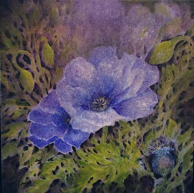 Painting - Purple Poppies by Milly Tseng