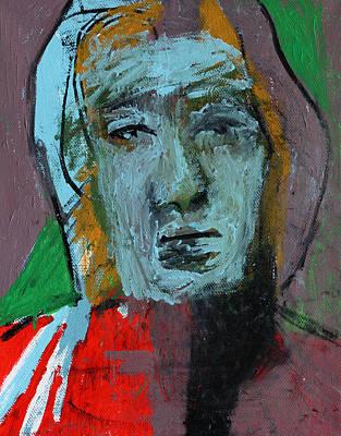 Painting - Purple Portrait by Artist Dot