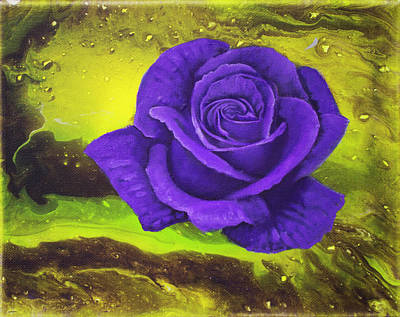 Painting - Purple Rose by Danny Frost