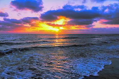 Photograph - Purple Sunset by Alison Frank