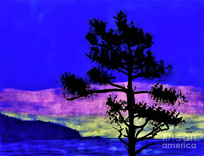 Purple Sunset Bay Original