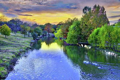 Photograph - Purple Sunset Over Cibolo Creek by Lynn Bauer