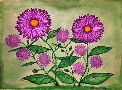 Painting Royalty Free Images - Purple Wildflowers Royalty-Free Image by Michael Panno