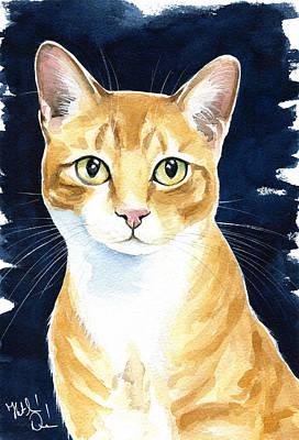Painting - Puss In Boots Ginger Cat Painting by Dora Hathazi Mendes