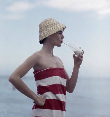 Drinking Photograph - Pussyfooting by Slim Aarons