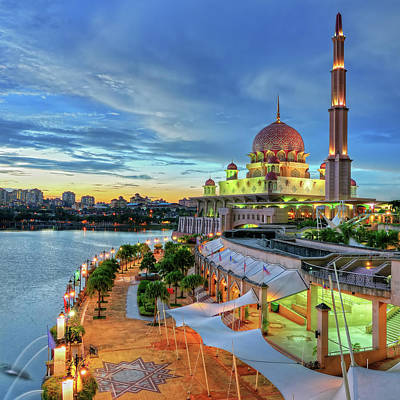 Islam Wall Art - Photograph - Putra Mosque by Photo By Mozakim