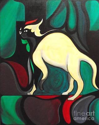 Painting - Pyewacket #3 by John Lyes