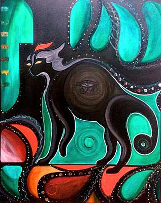 Painting - Pyewacket Noir by John Lyes