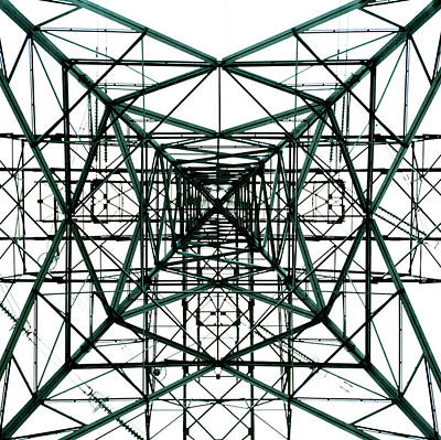 Photograph - Pylon, View From Below by Microzoa