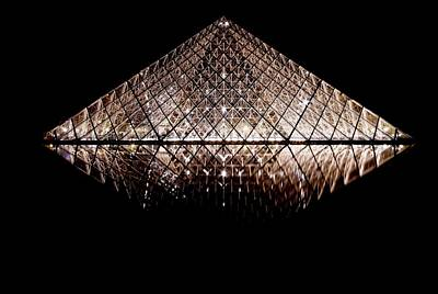 Photograph - Pyramid At The Louvre by Steven Liveoak