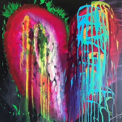 Painting - Quantum Heart by Liana Shanti