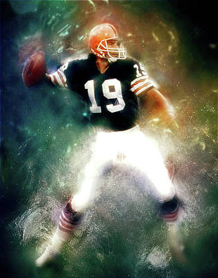 Digital Art - Quarterback Bernie Kosar by Max Huber
