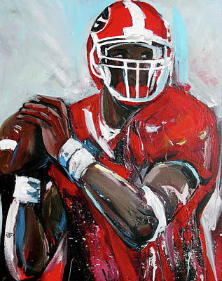 Painting - Quarterback by John Jr Gholson