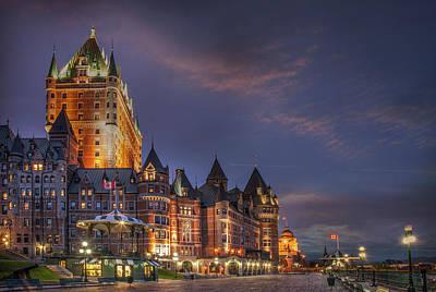 Quebec City, Chateau Frontenac Hotel Art Print by Buena Vista Images