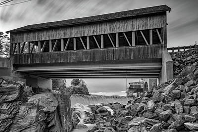 Photograph - Quechee Covered Bridge by Rick Berk