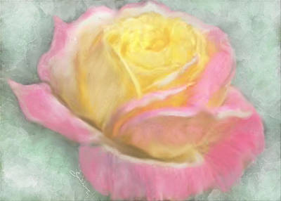 Wall Art - Painting - Queen Bella Rose -  I Care by Sannel Larson