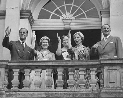 Photograph - Queen Elizabeth II With Danish Royal by Paul Popper/popperfoto
