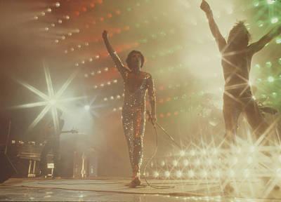 Freddie Mercury Wall Art - Photograph - Queen In Concert by Michael Ochs Archives