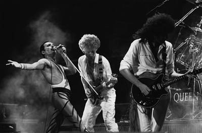 Photograph - Queen Live by Express Newspapers