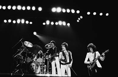 Photograph - Queen Live In Rotterdam by Fin Costello