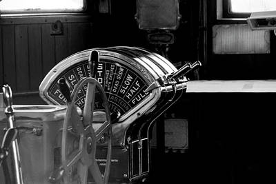 Photograph - Queen Mary Luxury Liner Engine Room View Of The Speed Control Th by Doc Braham