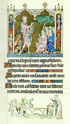 Painting - Queen Mary Psalter  John The Baptist by Anonymous