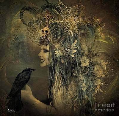 Digital Art - Queen Of Goth by Ali Oppy