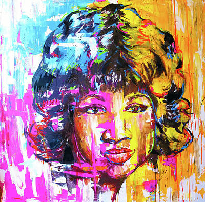 Painting - Queen Of Soul by Shuanteya Sherman