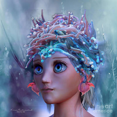 Mixed Media - Queen Of The Coral Reef by Kira Bodensted