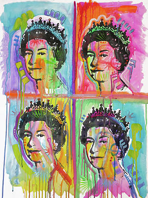 Painting - Queen X4 by Dean Russo Art