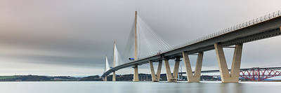 Photograph - Queensferry Crossing Bridge 3-1 by Grant Glendinning