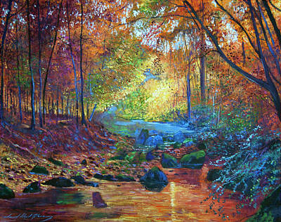 Painting - Quiet Autumn Moments by David Lloyd Glover